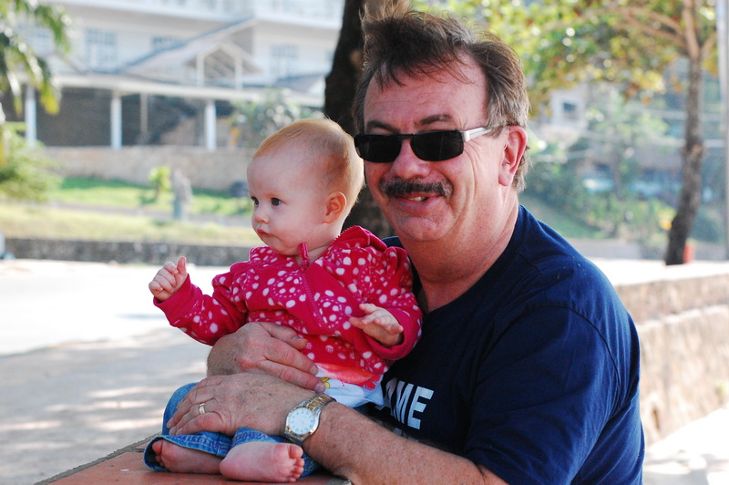 Hugh with one of his favourite granddaughters