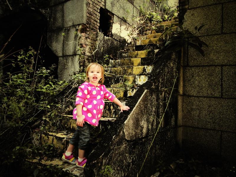 Aya exploring Kep's ruins