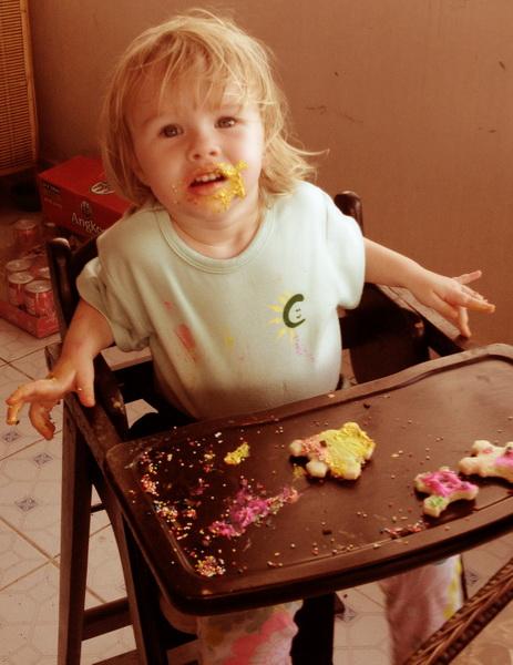 Aya finally overloads on sugar at Sam's second birthday