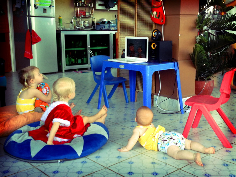 TV at Sam's house