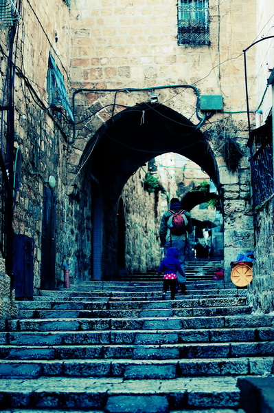 Navigating the old Jerusalem city streets