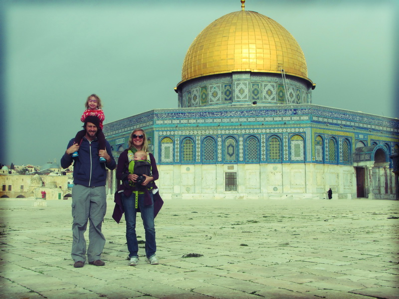 On the temple mount near the Dome of the Rock