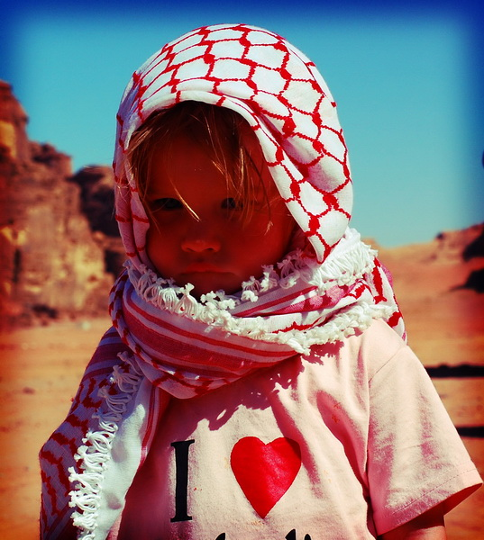 Aya ready for a Bedouin adventure