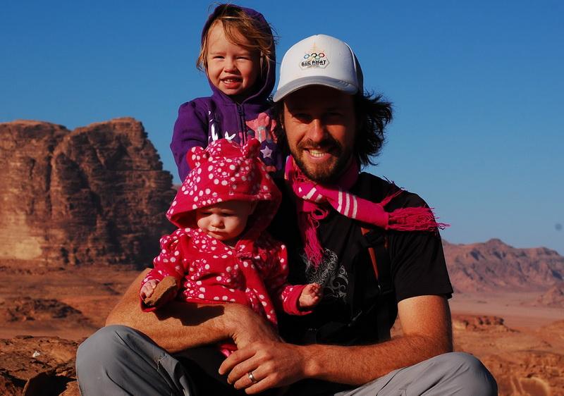 Steve + Kids near Wadi Rum