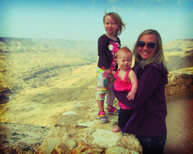 Amie + kids at Mujib Canyon