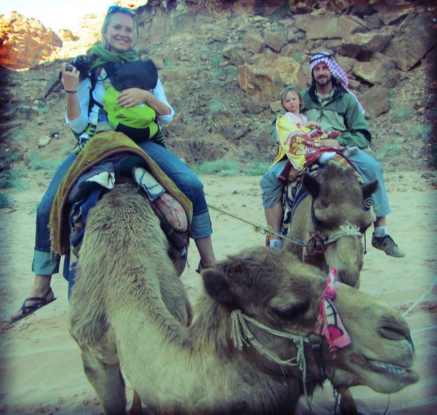 Family camel riding
