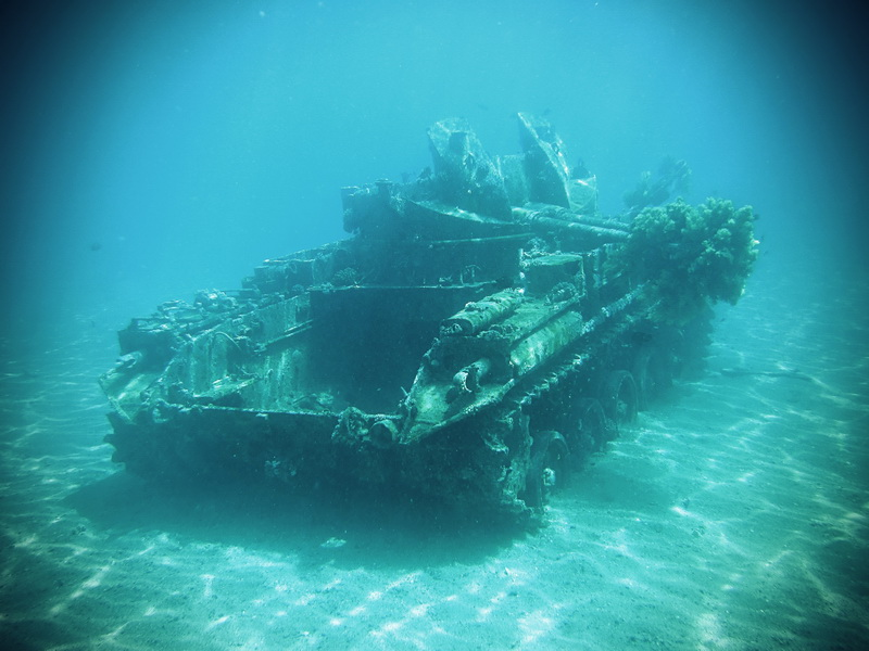 Underwater tank in Aqaba