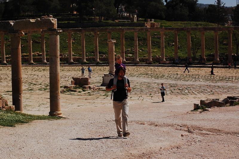 Steve + Aya at Jerash