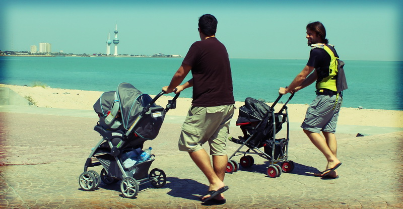 Dads and strollers