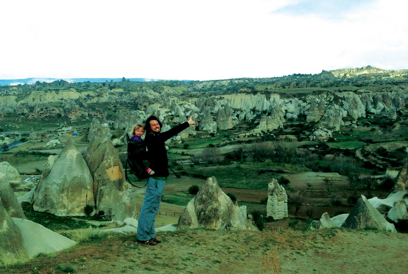 Hiking through the amazing Cappadocia valley