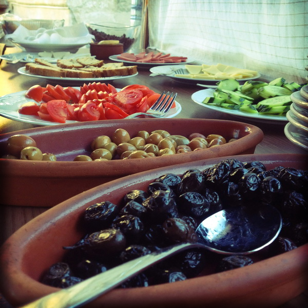 Standard Turkish breakfast