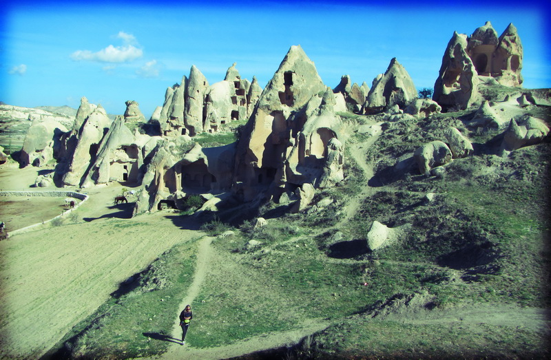 The paths through Cappadocia