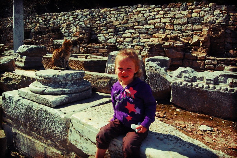 Aya at the Ephesus ruins