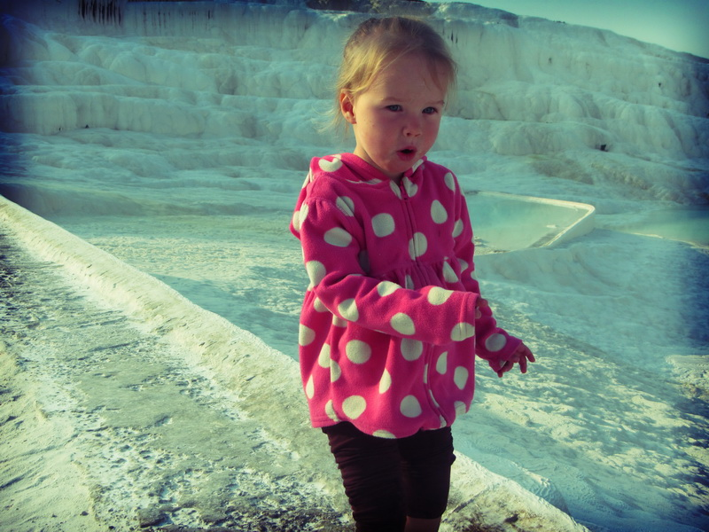 Aya exploring the waterfalls
