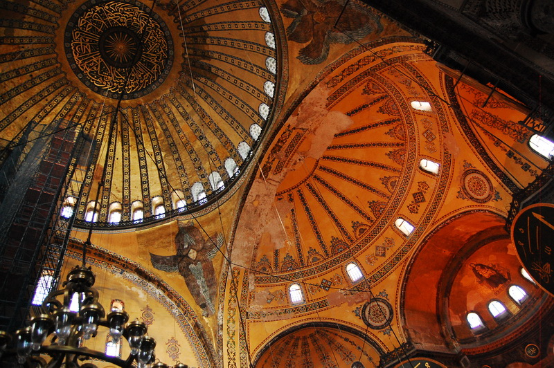 Roof interior of Aya Sofia