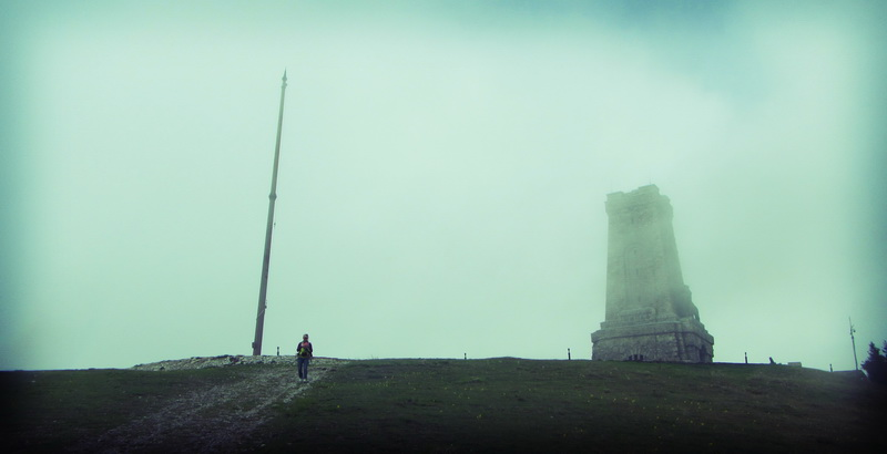 Leaving Shipka monument in the mist