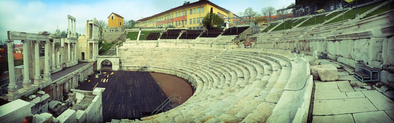 Ancient Roman amphitheater in Plovdiv