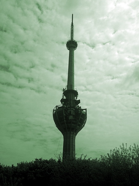 TV Tower bombed by NATO in 1999 Fruska Gora NP