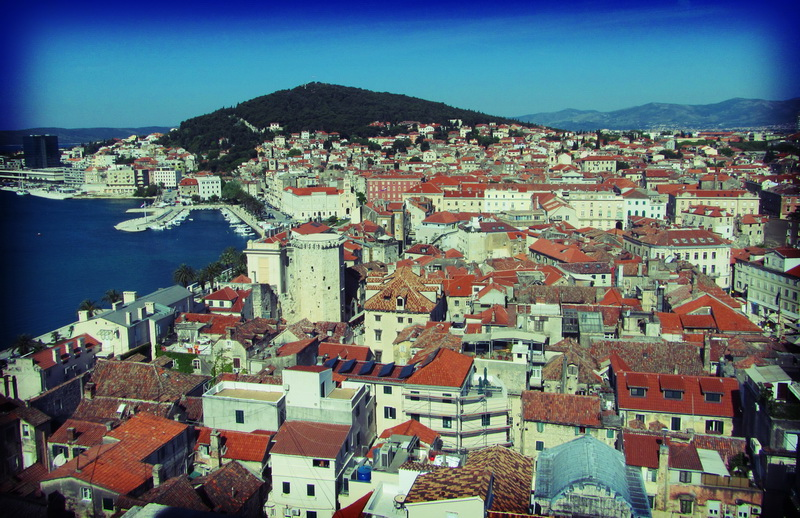 Looking across Split from the belltower