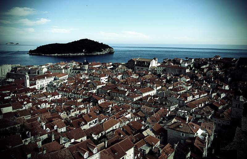 Looking over the old city of Dubrovnik