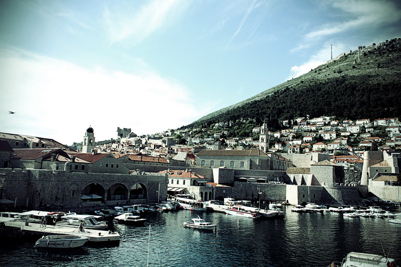 Ragusa harbour in Dubrovnik