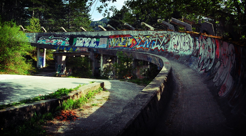 Old '84 Olympics bobsled course