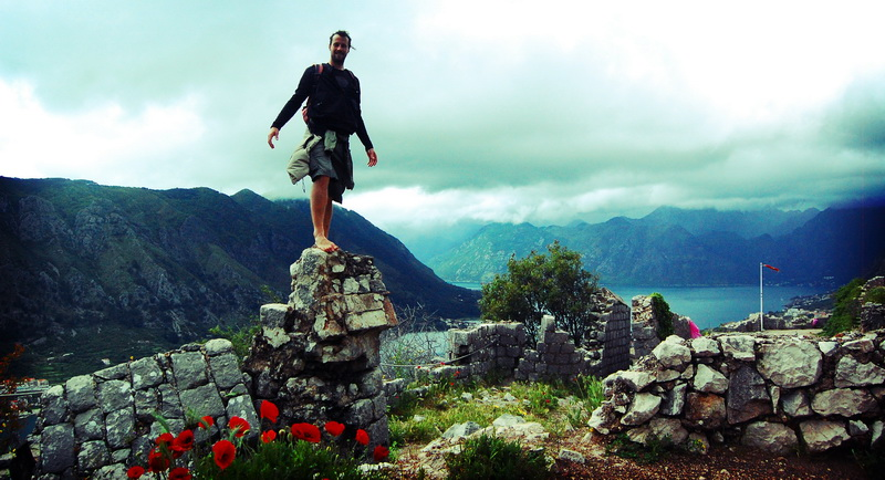 Steve summiting St. John's fortress in Kotor