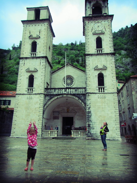 The church in the old walled city in Kotor