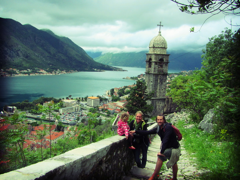 Climbing past the old church on the way to St. John's Fortress above Kotor