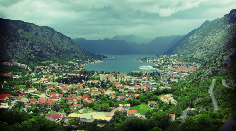View over Kotor bay