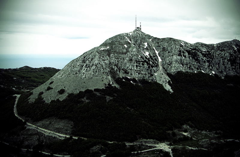 The highest peak in Lovcen national park