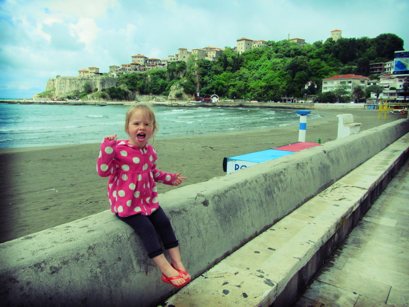Hanging out at the beach at Ulcinj