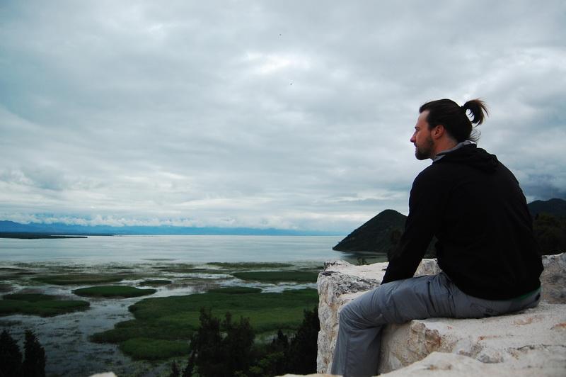 Steve overlooking Skadar Lakes