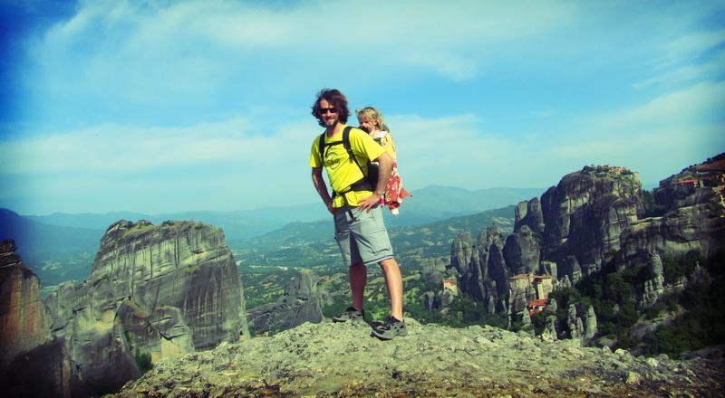 Overlooking the Meteora landscape