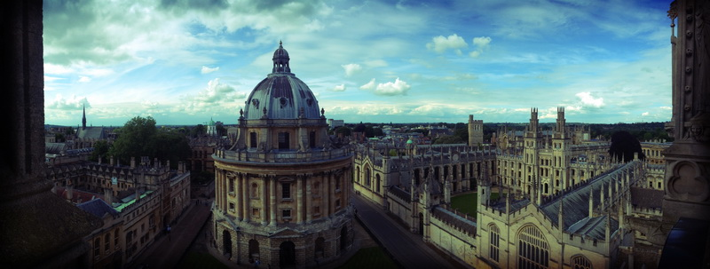 View from St. Mary's Spire in Oxford