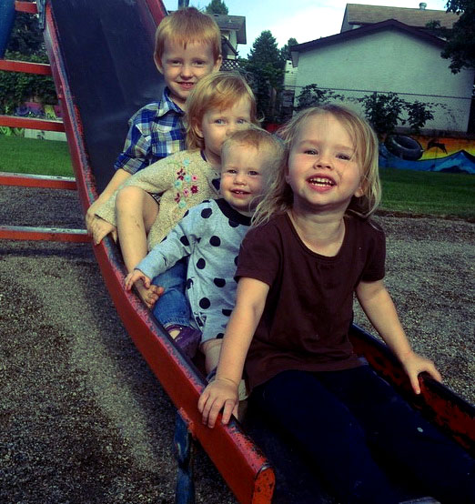 Cedar and Ezra visiting the girls in Kelowna