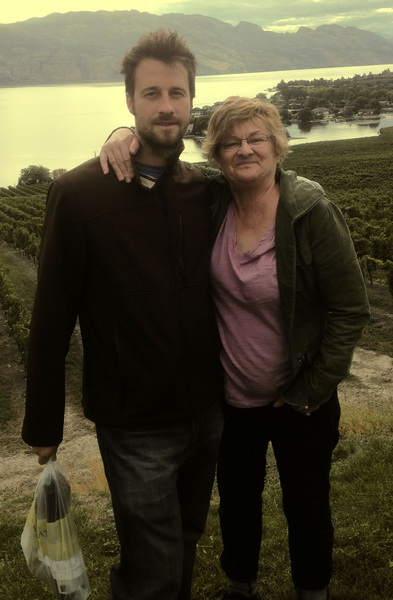 Steve + Sheila touring the vineyards