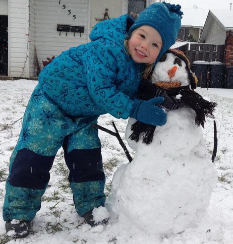 Aya's first snowman