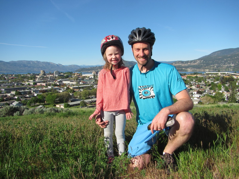 Aya + Steve daddy daughter biking date