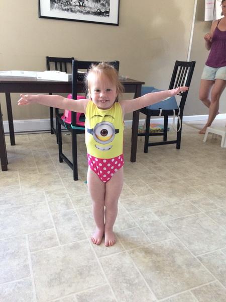 Arwen's new bathing suit