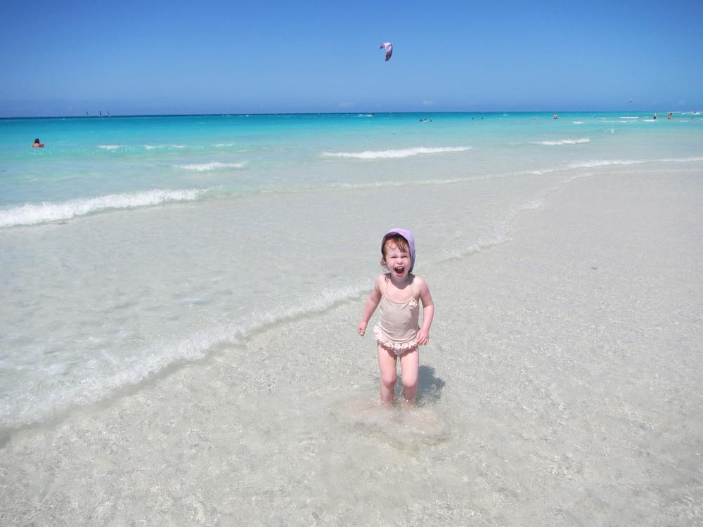 Arwen enjoying the beach