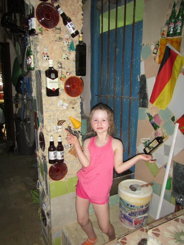 Garbage art wall