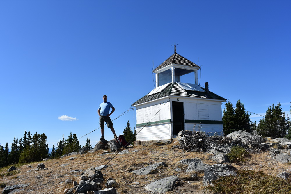 Fire watch tower at Brent Mountain summit