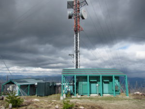 Communication Towers at Okanagan Mountain Summit