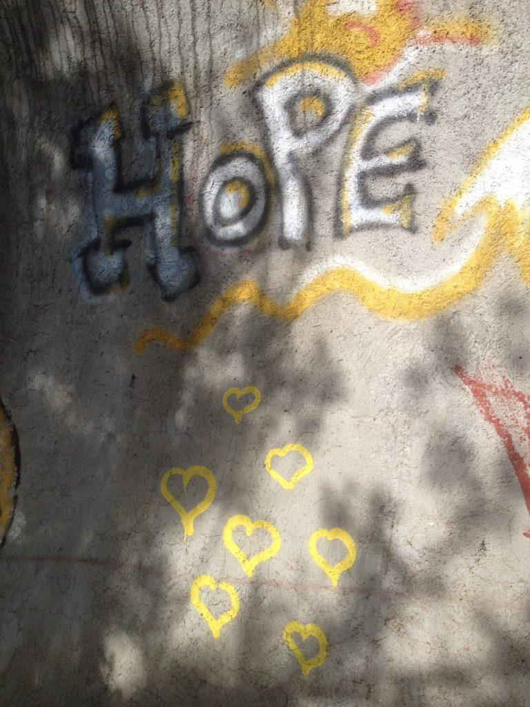 Hope graffiti in Sarajevo