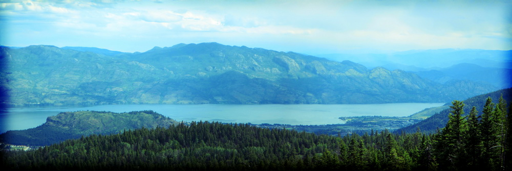 View of Okanagan Mountain ridge from Hayman Mountain