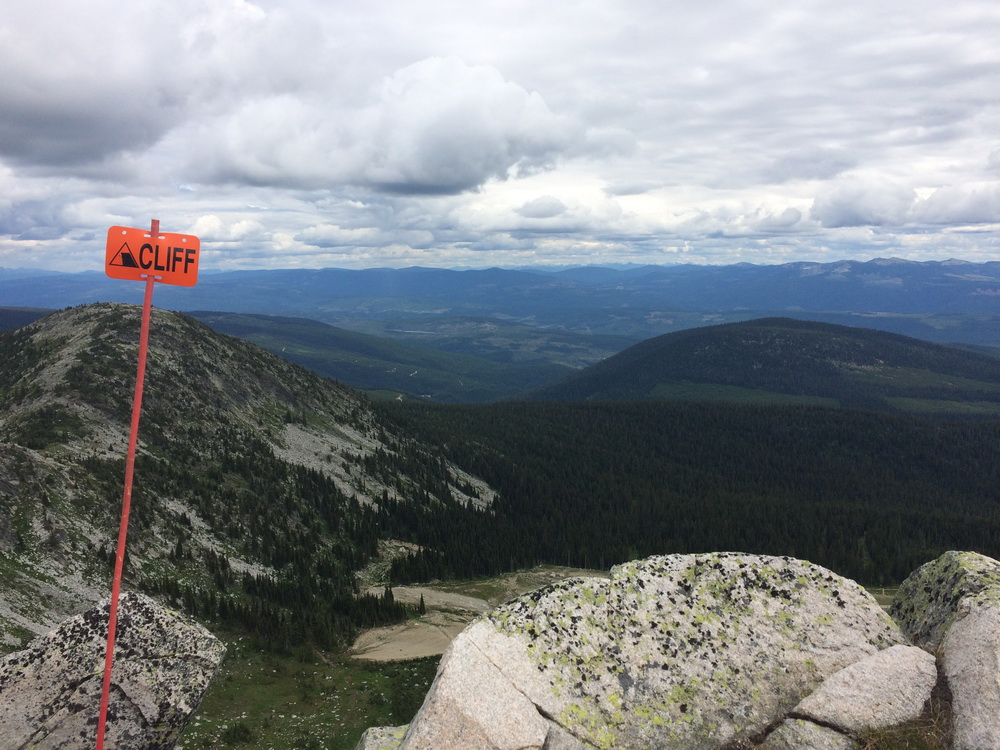 Sweeping views in all directions from Big White Summit