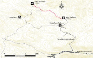Hiking trail to Brent Mountain