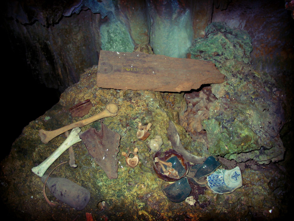 Treasure in one of the caves south of Banzai Cliffs