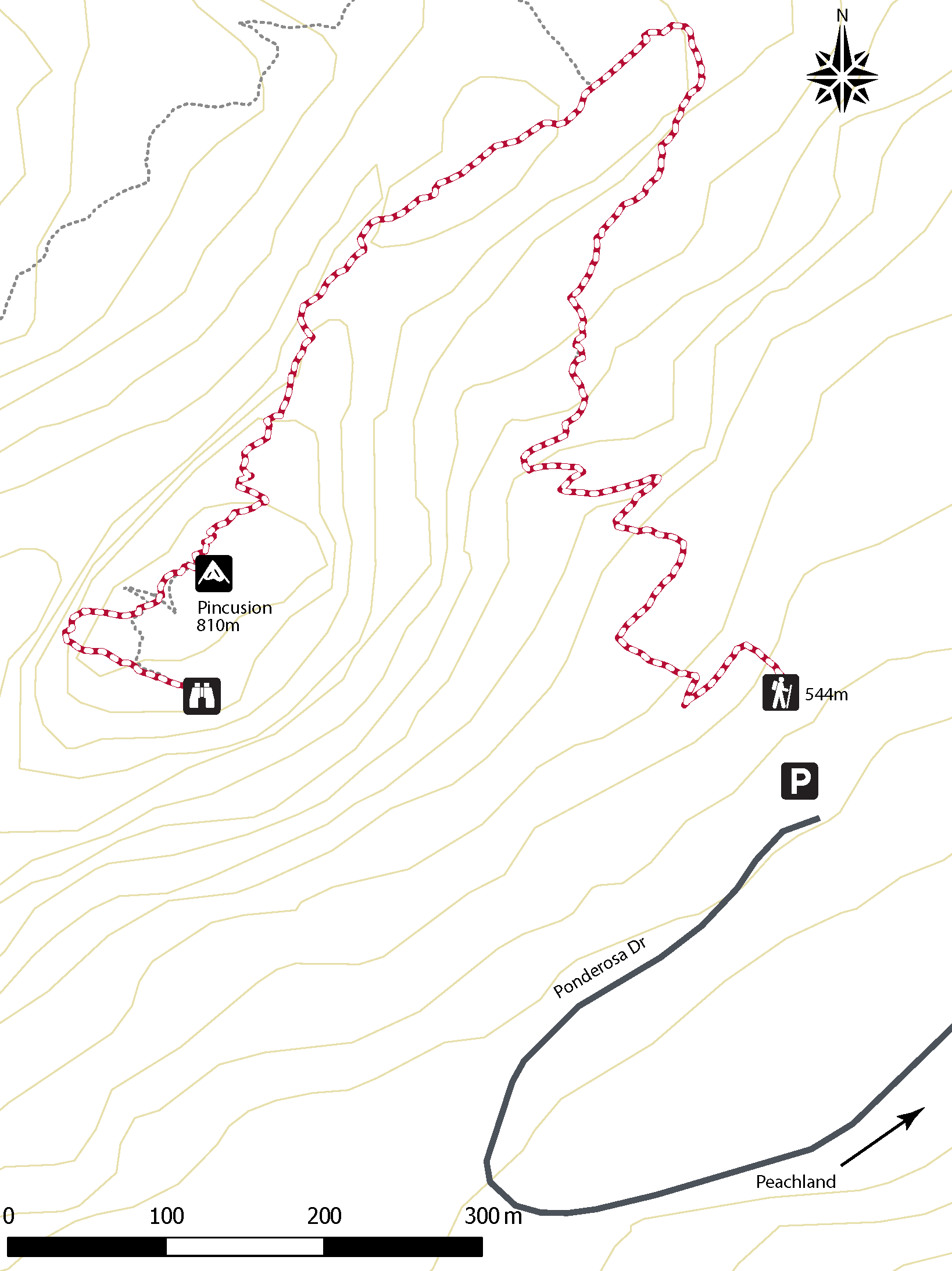 Pincushion Map Hiking Trail